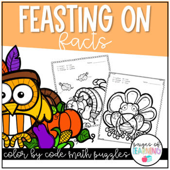 Feasting on Facts Thanksgiving Color by Number