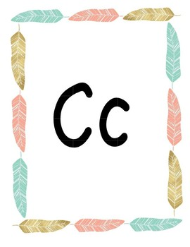 Feather Alphabet