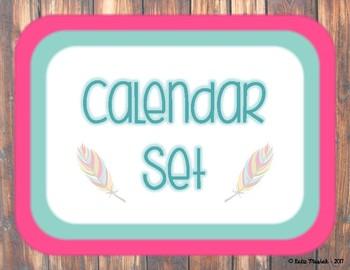 Feather Calendar Set