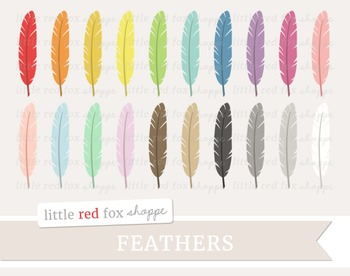 Feather Clipart; Bird, Tribal