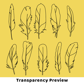 Feather Clipart, Boho Feather Clipart, Tribal Clipart, Bird Feather Drawings
