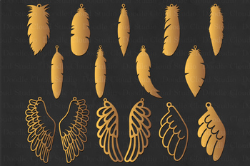 Feather Earring SVG, Wing Earring SVG,Tear Drop svg, Pendant svg files