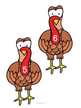 Turkey Math- Feather Frenzy: Matching Math Center for Decomposing Numbers 5-10
