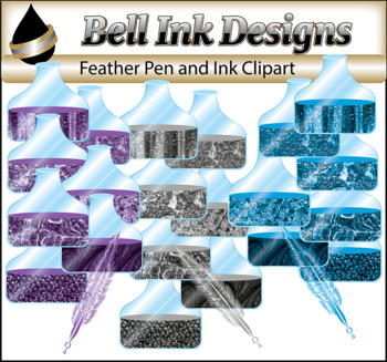 Feather Pen and Ink Clipart