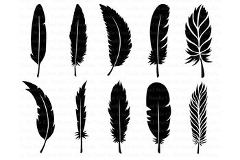 Feather SVG, Boho Feathers, Feathers Bundle SVG files,  Feather Clipart