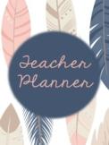 Feather Teacher Binder 2017-2018