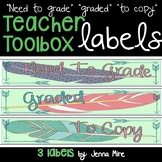 Feather Teacher Toolbox Large Labels-Boho