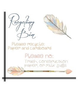 Feather Themed Room Labels