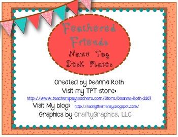 Feathered Friends {Owls & Birds} Deskplates