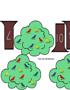 Feathered Friends Math Counting Game