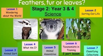 Feathers, Fur and Leaves- Primary Connections Unit (WHOLE