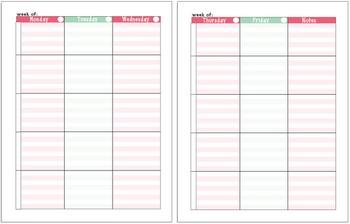Feathers Teacher Planner/Planbook