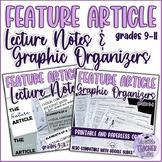 Feature Article Mini Lesson and Graphic Organizers (Writin