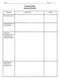 Feature Article Research Packet