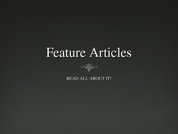 Feature Articles PowerPoint