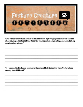 Feature Creature Animal Project