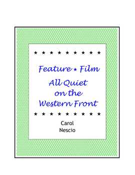 Feature * Film ~ All Quiet On The Western Front