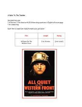 All Quiet On The Western Front ~ Movie Guide