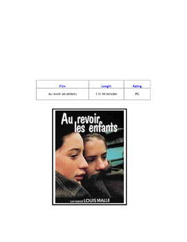 Feature * Film ~ Au revoir les enfants ~ Goodbye, Children
