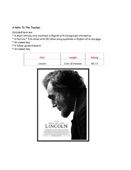 Feature * Film ~ Lincoln