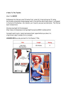 Feature * Film ~ Lola rennt Run Lola Run