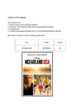 Feature * Film ~ McFarland USA