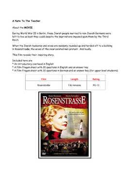 Feature * Film ~ Rosenstraße  Rosenstrasse