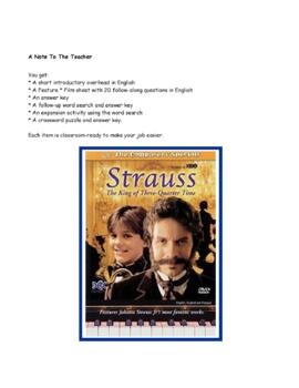 Feature * Film ~ Strauss:  The King of Three Quarter Time