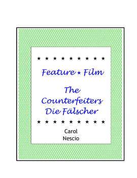 Feature * Film ~ The Counterfeiters ~ Die Fälscher