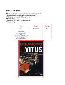 Feature * Film  ~ Vitus