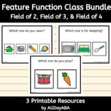 Feature Function Class Bundle - Receptive Language Activit