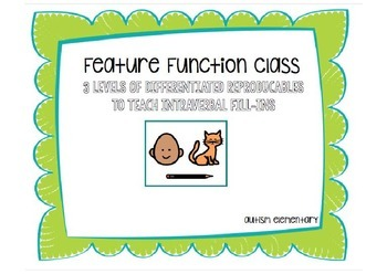 Feature, Function, and Class Differentiated Reproducables for Special Education
