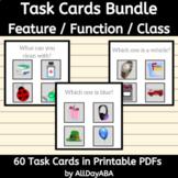 Feature Function Class - Task Cards Bundle - ABA & Speech