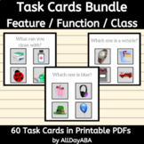 Feature Function Class Task Cards Bundle - ABA, Speech The