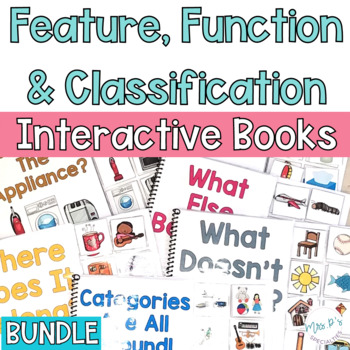 Feature, Function and Class Interactive Books BUNDLE (Speech & Special Ed books)