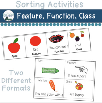 Feature, Function and Class Sorting Strips