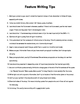 feature writing pdf