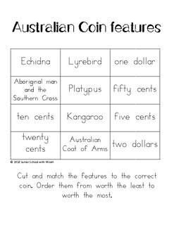 Features of Australian Coins Match Up