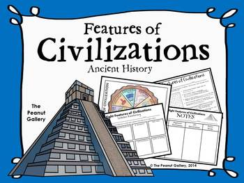 Features of Civilizations by The Peanut Gallery | Teachers Pay ...