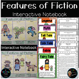 Features of Fiction|Interactive Notebook|Compare/Contrast Myths w/Similar Themes