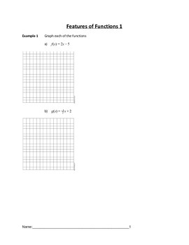 Features of Functions Lesson 1 of 9