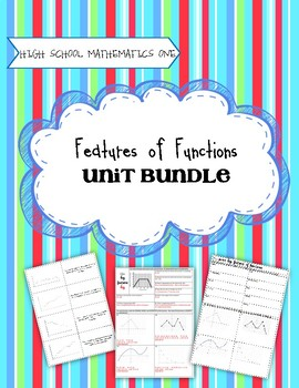 Features of Functions - Secondary One Unit Bundle