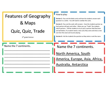 Features of Geography and Maps Quiz, Quiz, Trade Center/Game