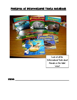 Features of Informational Texts Notebook (Updated)