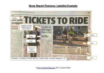 Newspaper Article Features