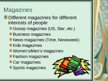 Features of Newspapers and Magazines