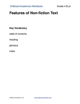 Features of Nonfiction Text