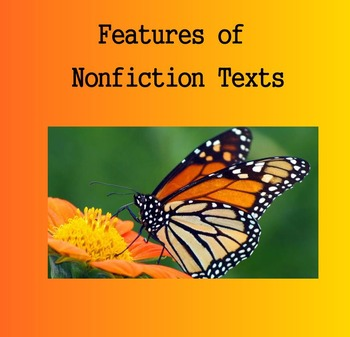 Nonfiction Text Features - Introduction / Examples