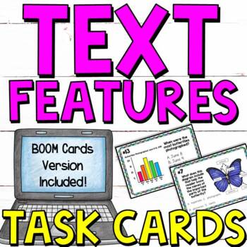 Text Features Posters And Task Cards 2 Sets By Literacy 4 Kids