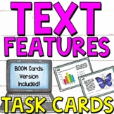 Text Features Posters and Task Cards (2 Sets!)